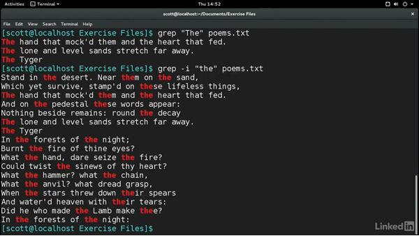 Search for text in files and streams with grep: Learn the Linux Command Line: The Basics