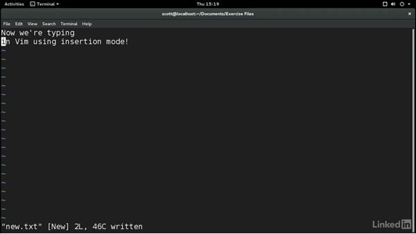Edit text with Vim: Learn the Linux Command Line: The Basics