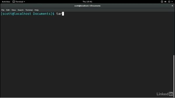 Working with tar archives: Learn the Linux Command Line: The Basics