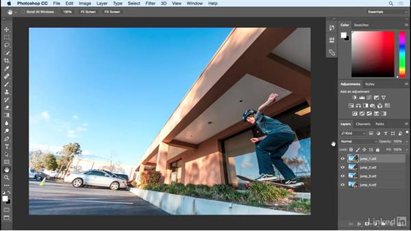 Aligning the different layers: Shooting and Assembling a Sports Action Composite