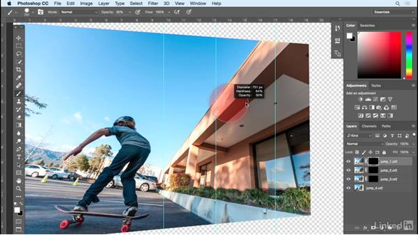 Using layer masks to build the sequence: Shooting and Assembling a Sports Action Composite