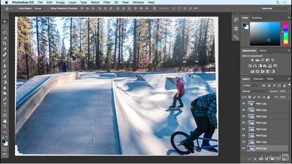 Using a layer stack script to align images: Shooting and Assembling a Sports Action Composite