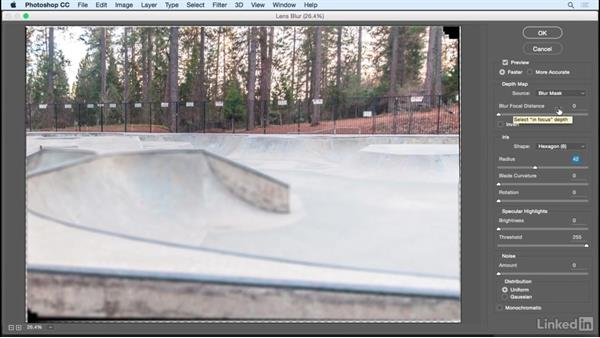 Applying a lens blur using a depth map: Shooting and Assembling a Sports Action Composite