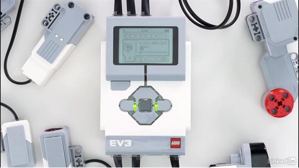 Navigate the EV3 brick UI: Lego Mindstorms: Open the Box