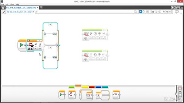 Switch with a threshold value: Lego Mindstorms: Open the Box