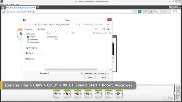 Create and edit sound files: Lego Mindstorms: Open the Box
