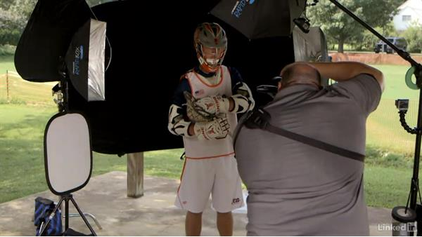 Choosing a portable backdrop: Shooting Awesome Sports Portraits