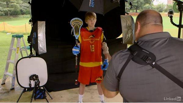 Composing for the team shot: Shooting Awesome Sports Portraits