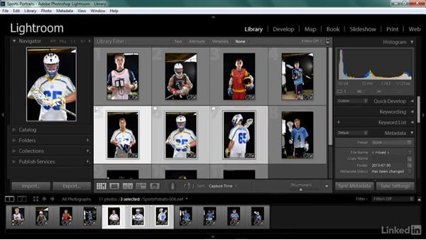 Making selects and creating collections: Shooting Awesome Sports Portraits