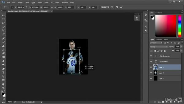 Creating an alternate portrait: Shooting Awesome Sports Portraits