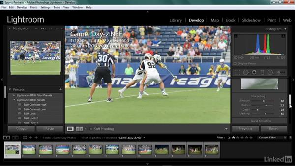 Creating a Develop module preset: Shooting Awesome Sports Portraits