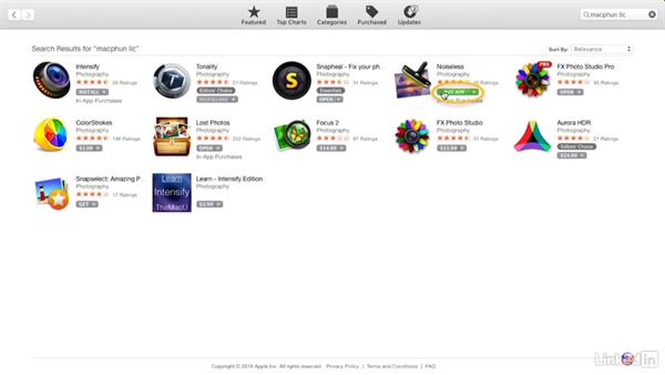 Installing the software from the App Store: Macphun Software: Tips and Techniques