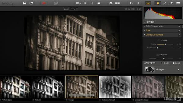 Working with Tonality presets and adjustments
