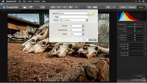 Saving and exporting from Snapheal: Macphun Software: Tips and Techniques