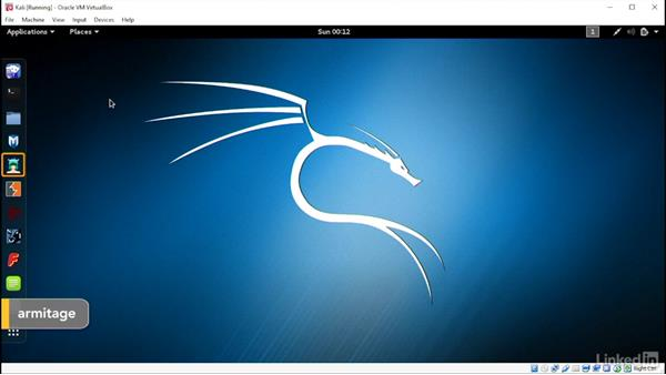 Explore the quick access list: Introduction to Kali Linux