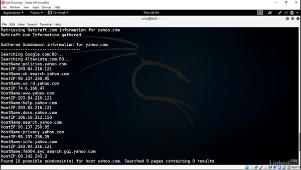 Introducing DMitry: Introduction to Kali Linux