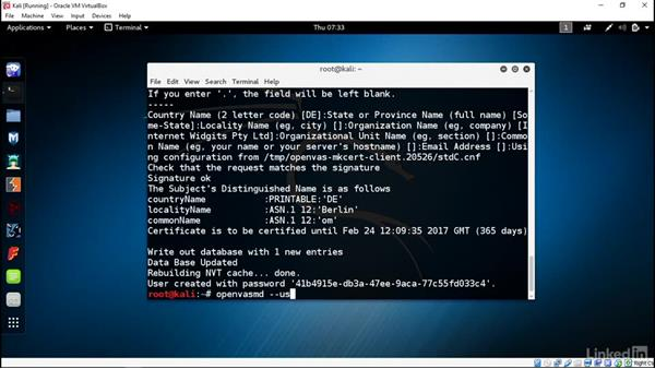 Install OpenVAS: Introduction to Kali Linux