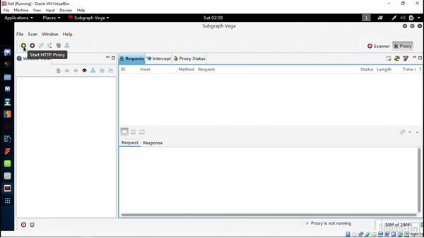 Use Vega as a web proxy: Introduction to Kali Linux