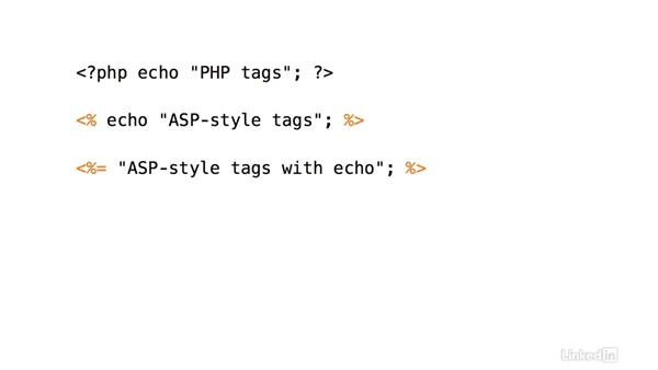 Alternative PHP tags: PHP 7 New Features