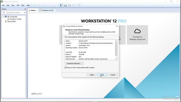 Set up Ubuntu as guest: Learn VMware Workstation Pro 12: The Basics