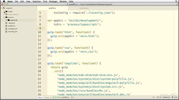 Working with our build tool: Learn AngularJS 2: The Basics