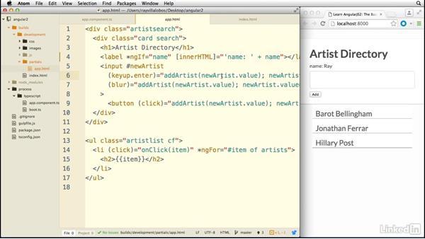 Using properties: Learn AngularJS 2: The Basics