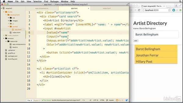 Using two-way data binding: Learn AngularJS 2: The Basics
