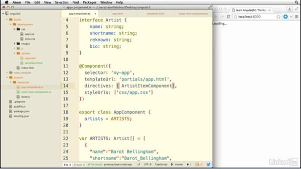 Creating a subcomponent: Learn AngularJS 2: The Basics