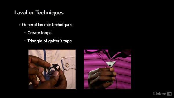 Lavalier techniques: Audio for Video: Production and Post Sound Techniques