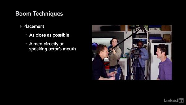Boom mic techniques: Audio for Video: Production and Post Sound Techniques