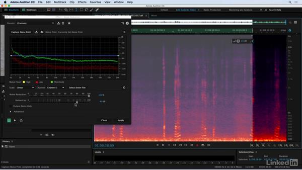 Broadband noise repair: Audio for Video: Production and Post Sound Techniques