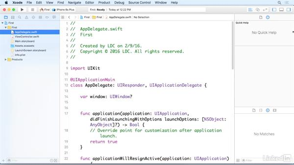 Create a simple iOS app: iOS 9 App Development with Swift 2 Essential Training