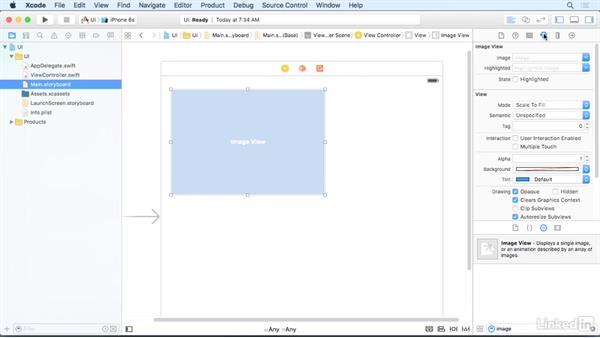 Image views: iOS 9 App Development with Swift 2 Essential Training