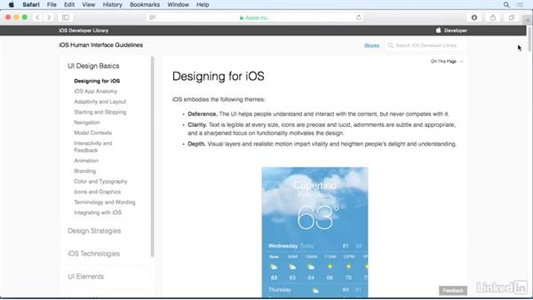 Apple's iOS Human Interface Guidelines: iOS 9 App Development with Swift 2 Essential Training