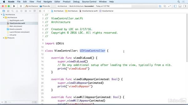 View events: iOS 9 App Development with Swift 2 Essential Training