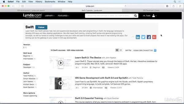 Next steps: iOS 9 App Development with Swift 2 Essential Training