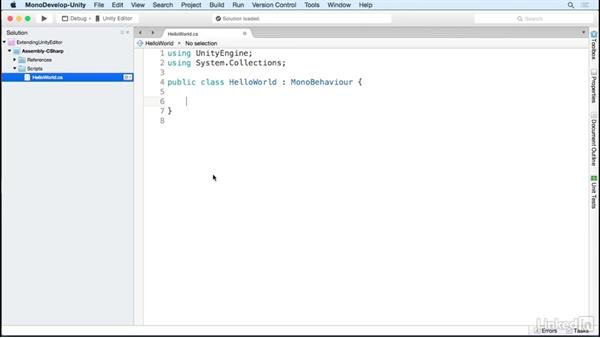 Expose variables to the Inspector: Building Custom Tools to Extend the Unity IDE