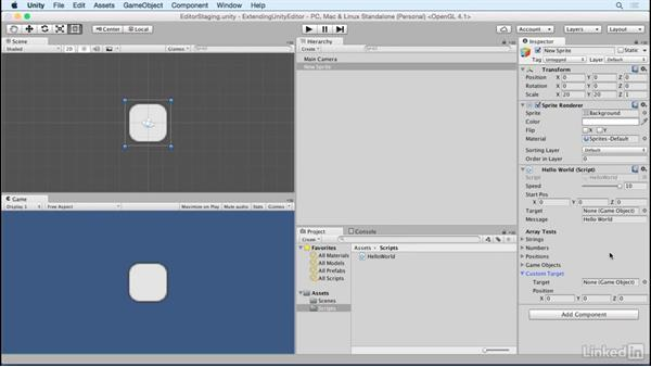 Add custom classes: Building Custom Tools to Extend the Unity IDE