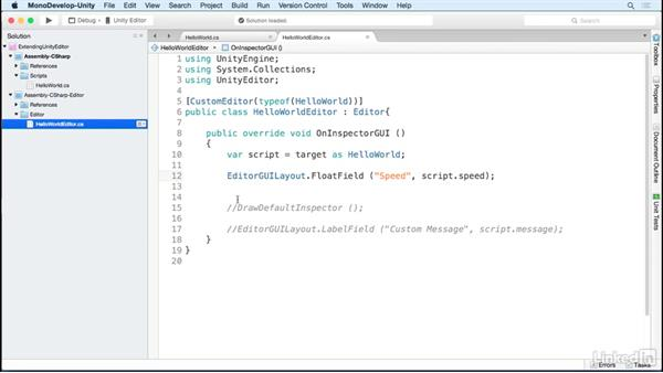 Input field: Strings & numbers: Building Custom Tools to Extend the Unity IDE