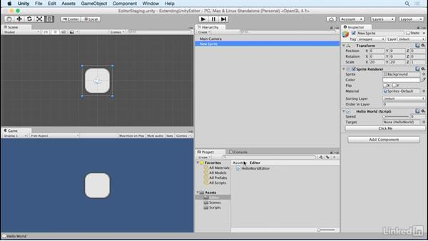 Modify the layout of a custom editor: Building Custom Tools to Extend the Unity IDE