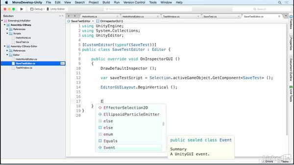 Prepare to save data: Building Custom Tools to Extend the Unity IDE