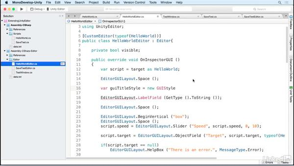 Cleaning up our custom UI: Building Custom Tools to Extend the Unity IDE