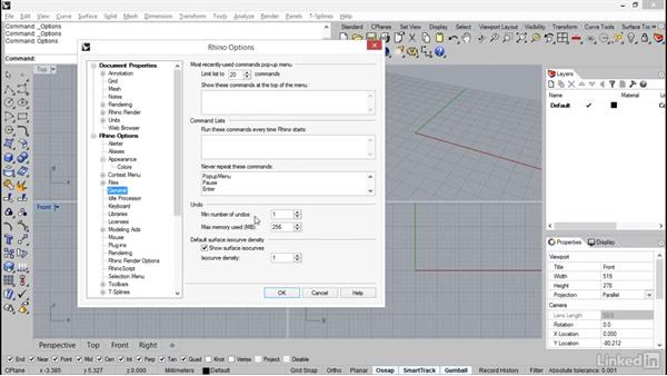 Setting up the Rhino interface: Rhino: Introduction to T-Splines