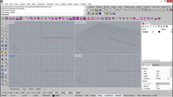 Setting up the toolbar & dock: Rhino: Introduction to T-Splines