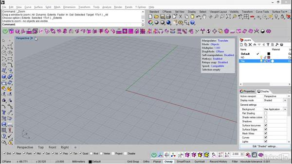 An overview of the T-Splines toolbar: Rhino: Introduction to T-Splines