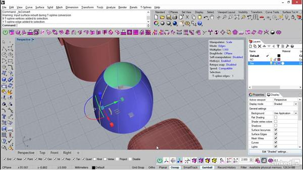 Converting meshes and NURBS to T-Splines: Rhino: Introduction to T-Splines