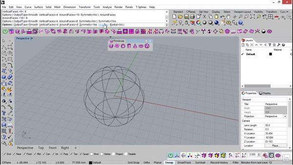Symmetry options in T-Splines: Rhino: Introduction to T-Splines