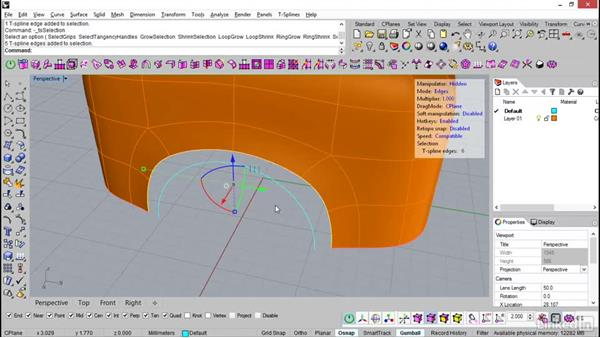 Match surface in T-Splines: Rhino: Introduction to T-Splines