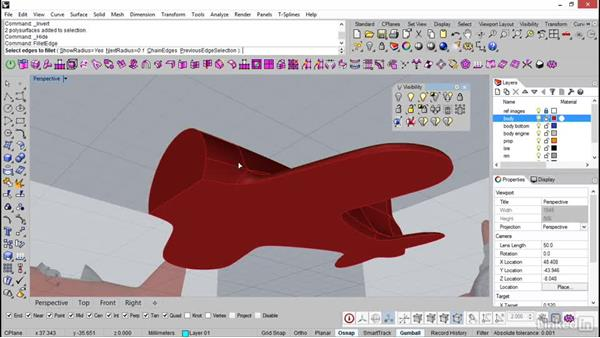 Filleting the edges: Rhino: Introduction to T-Splines