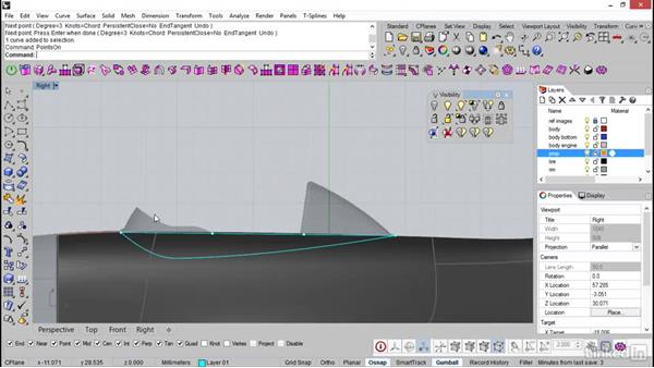 Shaping the cockpit: Rhino: Introduction to T-Splines